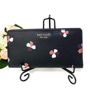 Kate♠️Spade LG Bifolder Wallet Cameron Black Multi
